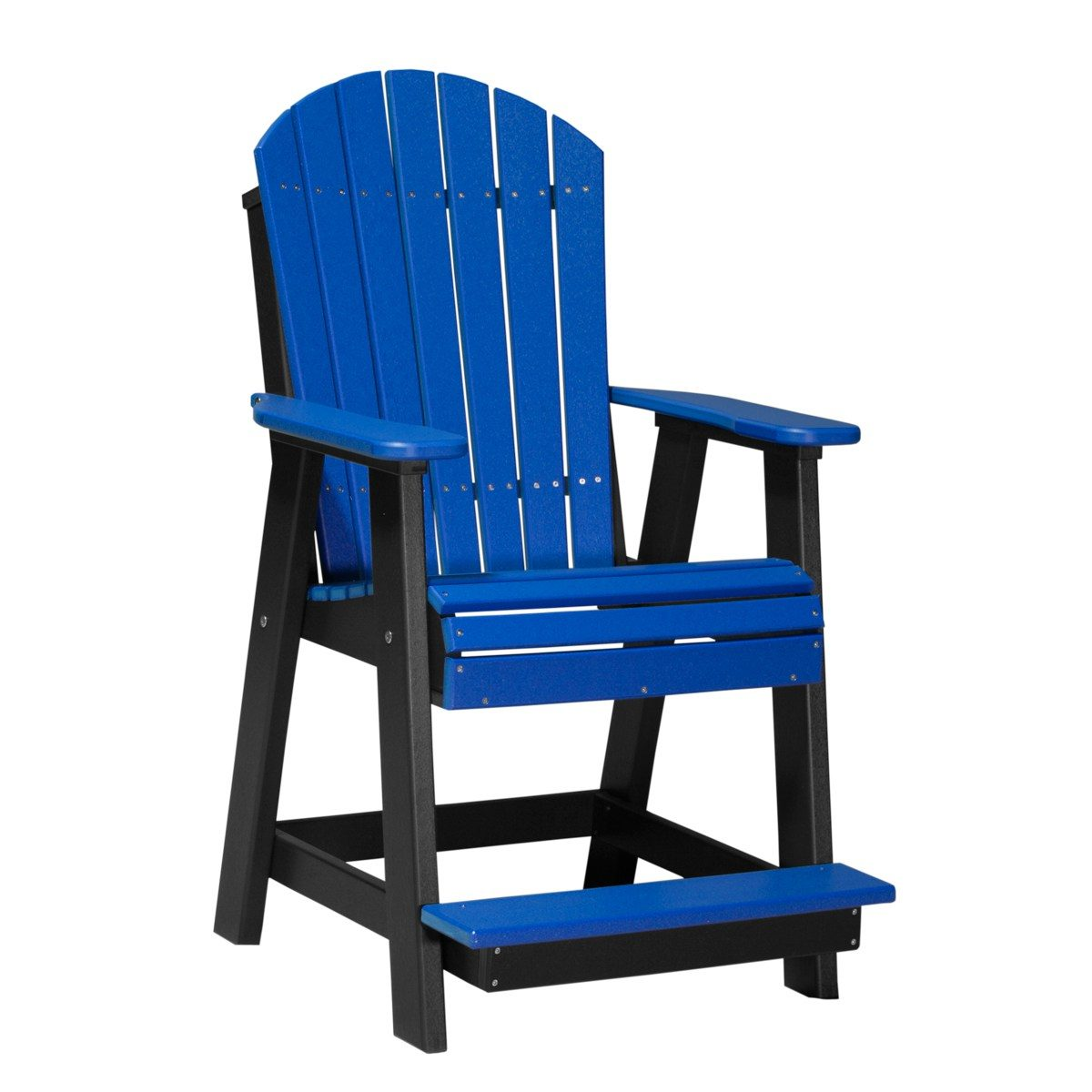 Adirondack Balcony Chair - Blue & Black