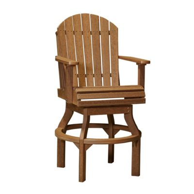 Adirondack Swivel Dining Chair (Bar Height Shown) - Antique Mahogany