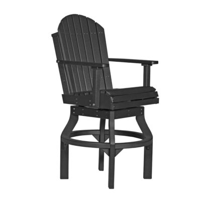Adirondack Swivel Counter Chair (Bar Height Shown) - Black