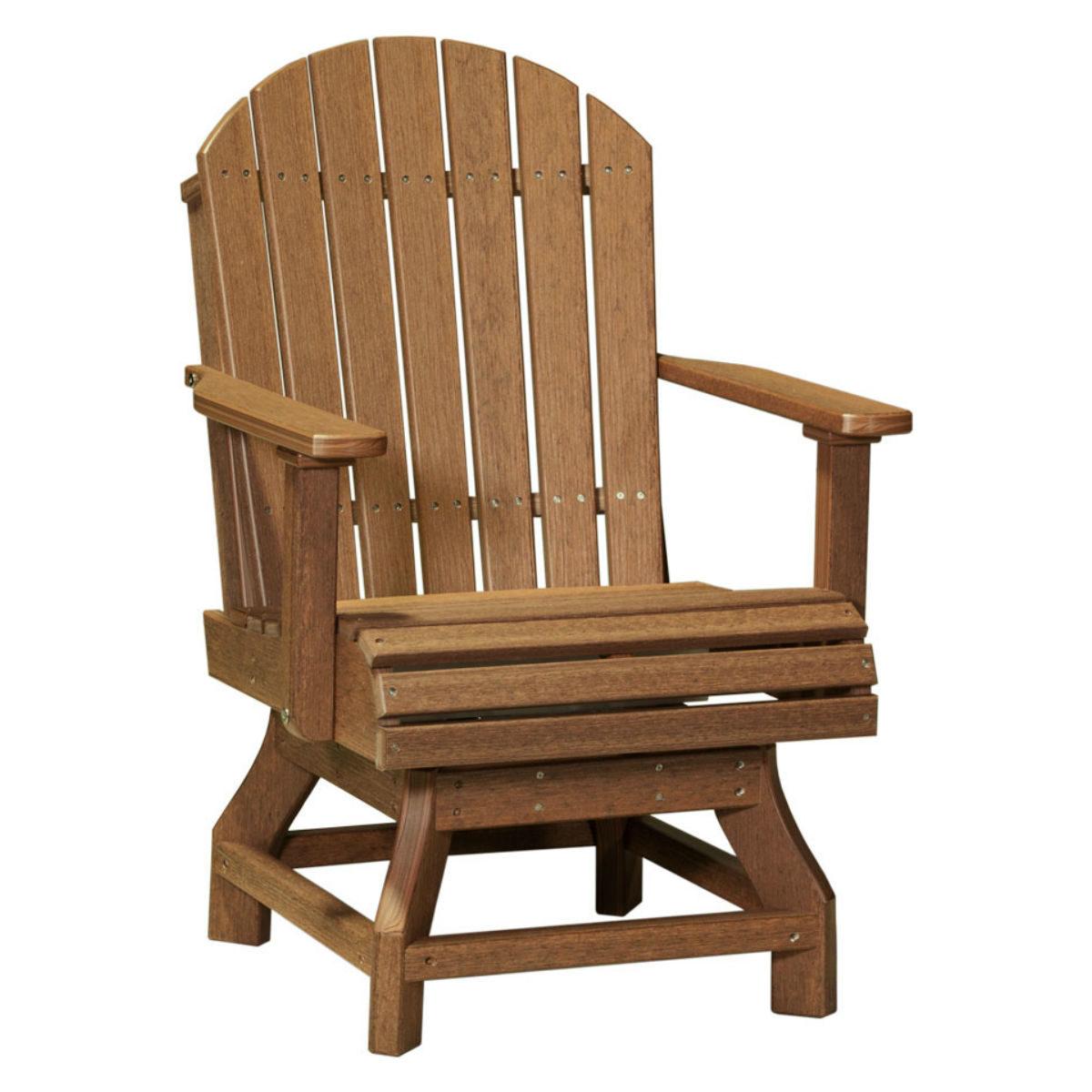 Adirondack Swivel Dining Chair - Antique Mahogany