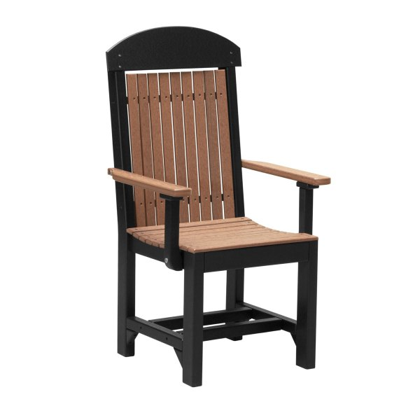 Classic Captain Dining Chair - Antique Mahogany & Black