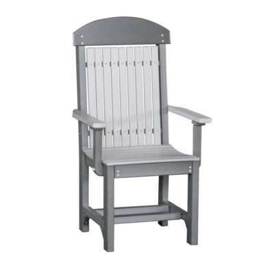 Classic Captain Counter Chair (Dining Height Shown) - Dove Gray & Slate