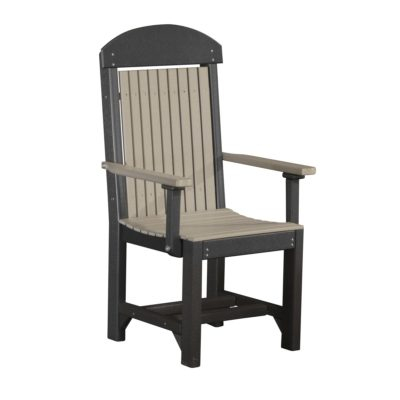 Classic Captain Bar Chair (Dining Height Shown) - Weatherwood & Black