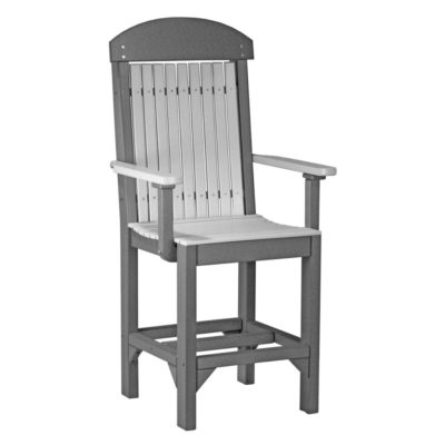 Classic Captain Counter Chair - Dove Grey & Slate