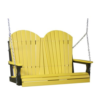 Double Adirondack Swing - Yellow & Black