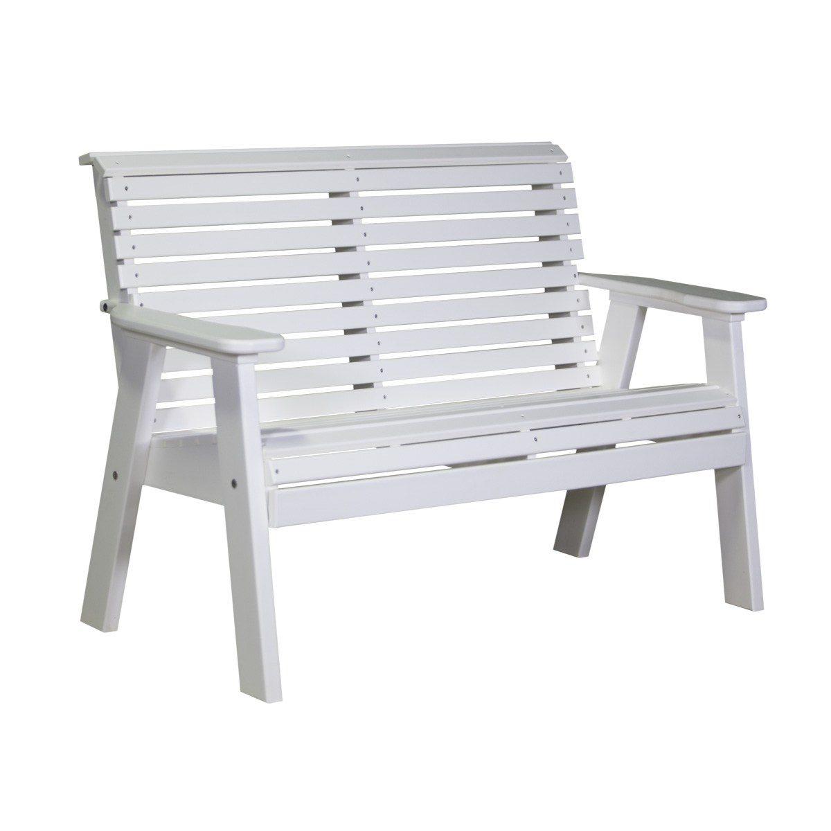 Double Plain Bench - White