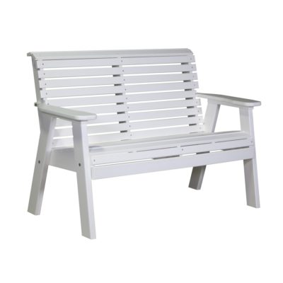 Double Plain Bench - White
