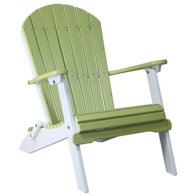 Folding Adirondack Chair - Lime Green & White