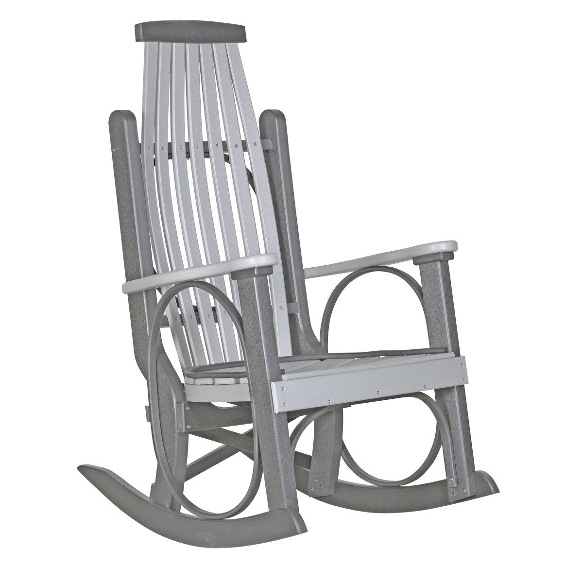 Grandpa Rocker - Dove Gray & Slate