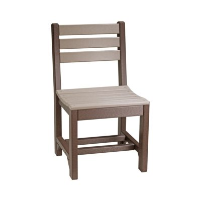 Island Dining Chair - Weatherwood & Brown