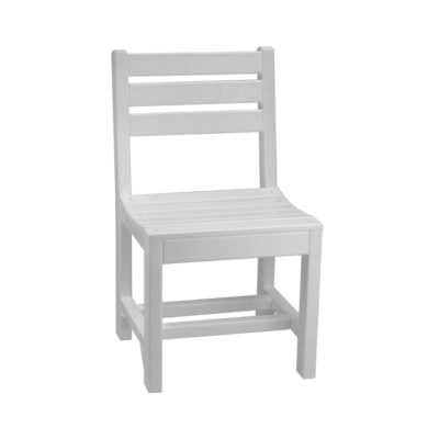 Island Bar Chair (Dining Height Shown) - White