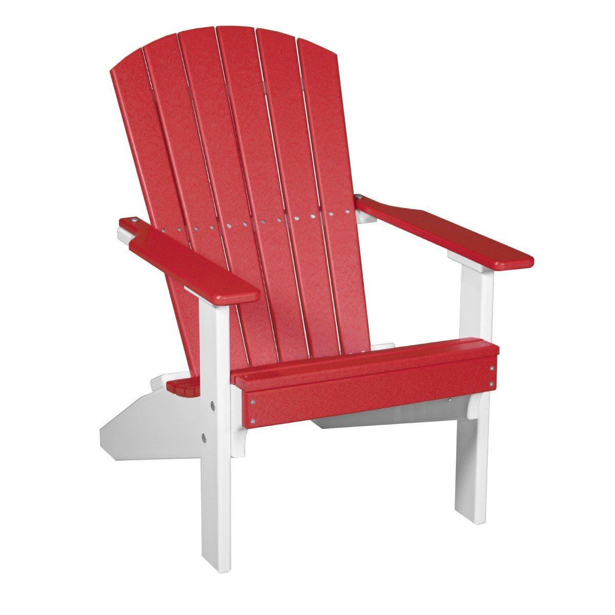Lakeside Adirondack Chair - Red & White