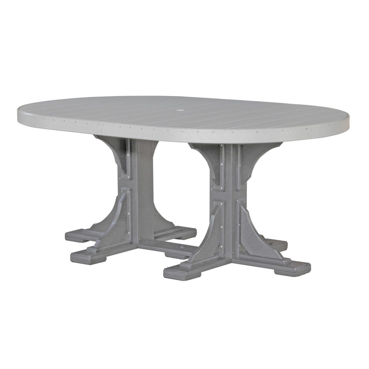 Oval Counter Table - Dove Gray & Slate