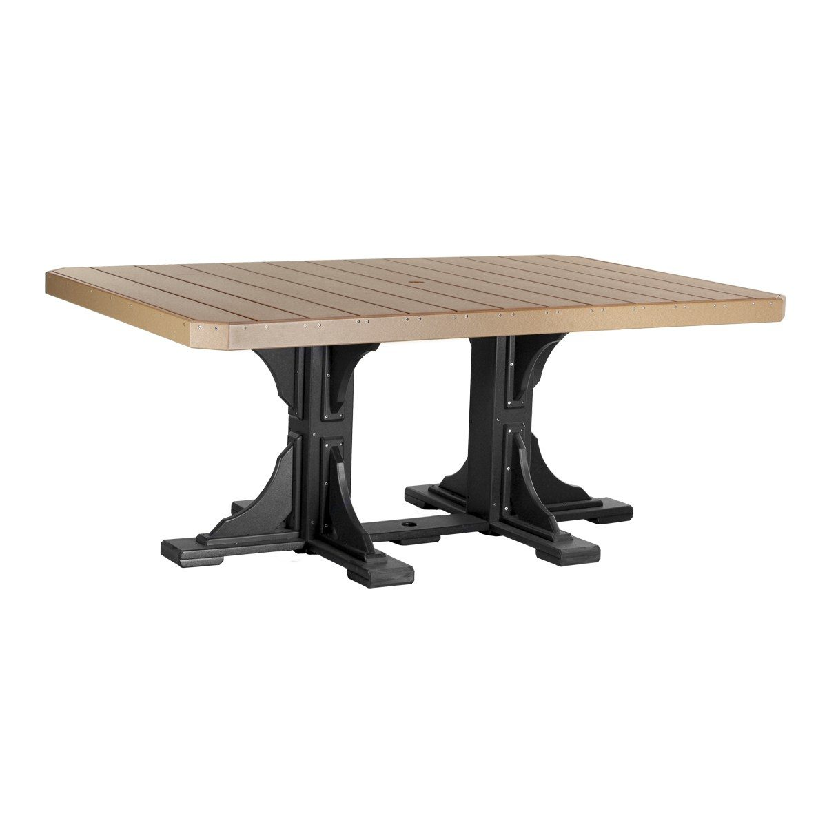 Rectangular Dining Table - Cedar & Black