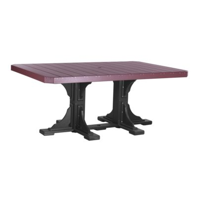 Rectangular Bar Table - Cherry & Black (Dining Height Shown)