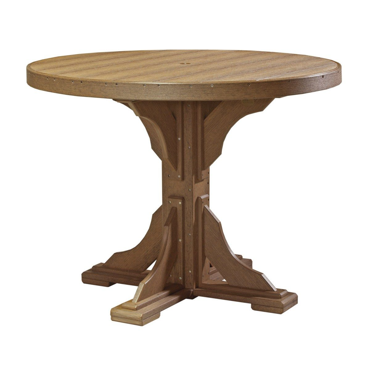 Round Counter Table (Dining Height Shown) - Antique Mahogany