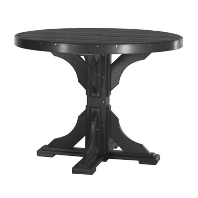 Round Bar Table (Dining Height Shown) - Black