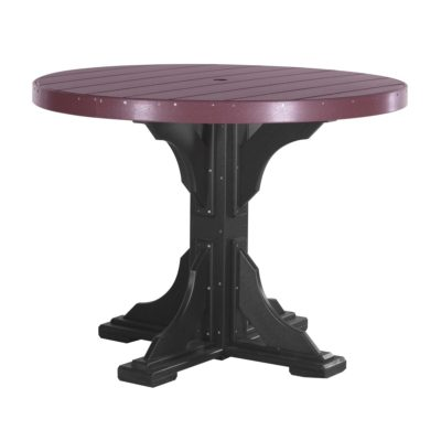 Round Counter Table (Dining Height Shown) - Cherry & Black