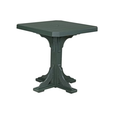 Square Counter Table (Bar Height Shown) - Green