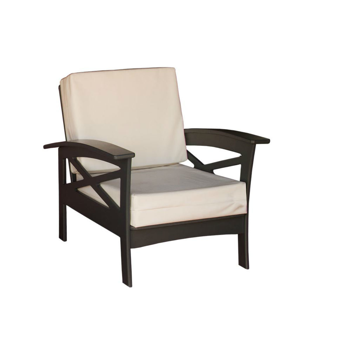 Deep Seat Chair - Chocolate Brown
