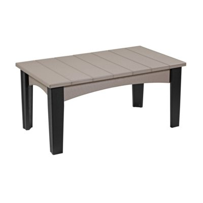 Island Coffee Table - Weatherwood & Black