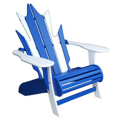 Maple Leaf Grande Muskoka Chair - Cobalt Blue & White