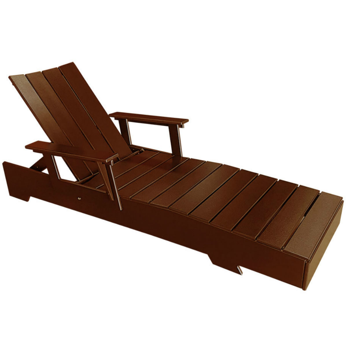 Modern Muskoka Lounge Chair - Chocolate Brown