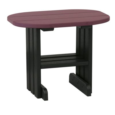 Outdoor End Table - Cherry & Black