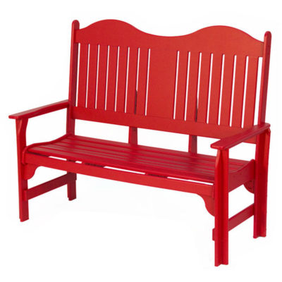 Park Bench - Deep Red