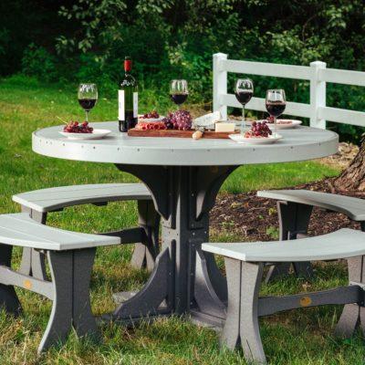 Round 5-Piece Bench Dining Set