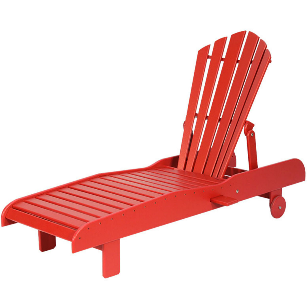 Shae Springs Lounge Chair - Deep Red