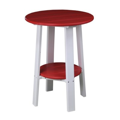 Tall Deluxe End Table - Red & White