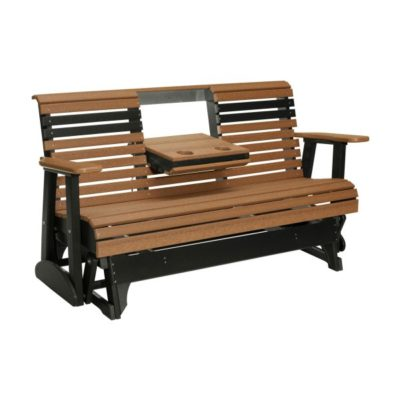 Triple Plain Glider - Antique Mahogany & Black