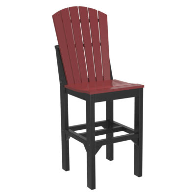 Adirondack Bar Chair - Cherry & Black