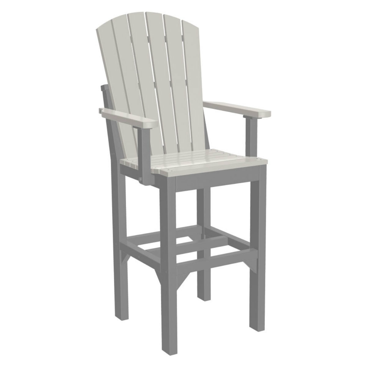 Adirondack Captain Bar Chair - Dove Grey & Slate