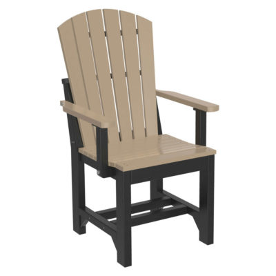 Adirondack Captain Dining Chair - Weatherwood & Black