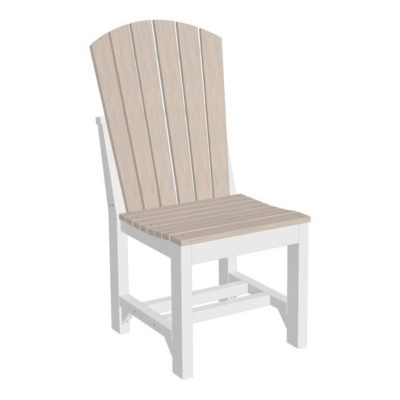 Adirondack Dining Chair - Birch & White