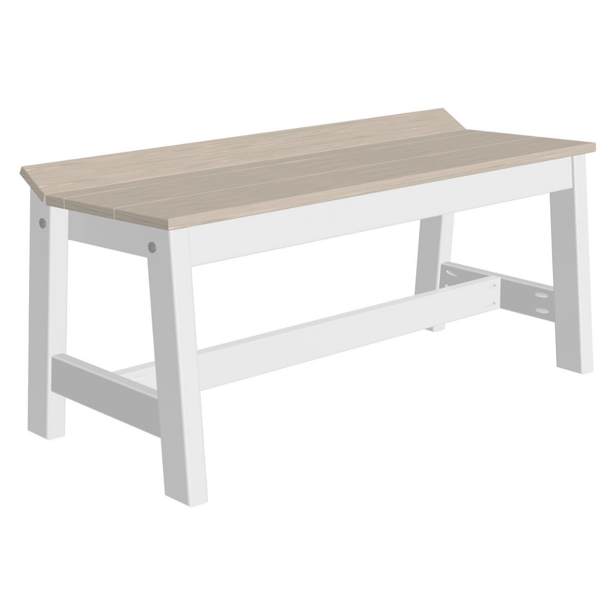 Small Cafe Bench - Birch & White
