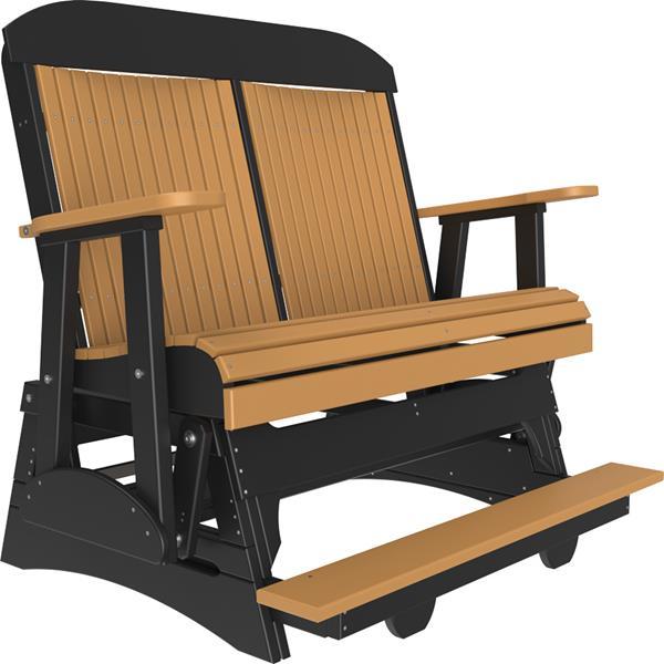 Double Classic Balcony Glider - Cedar & Black