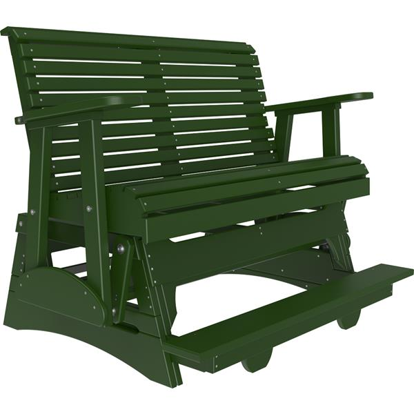 Double Plain Balcony Glider - Green