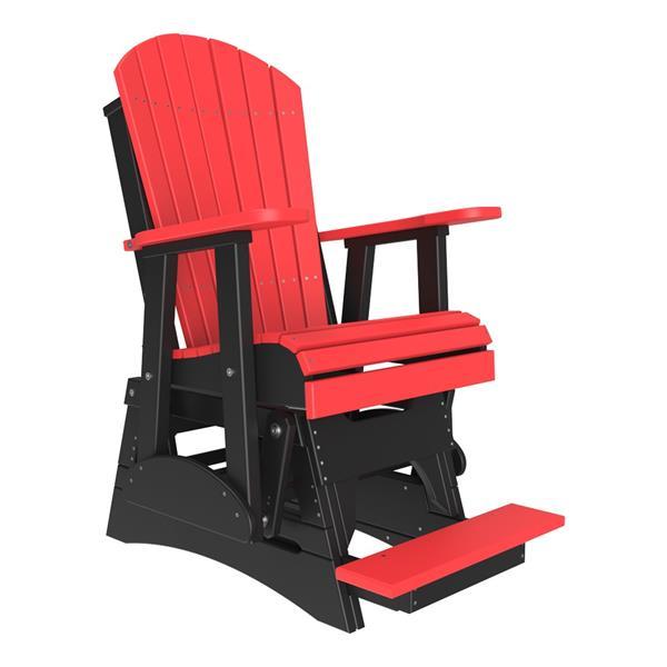 Single Adirondack Balcony Glider - Red & Black