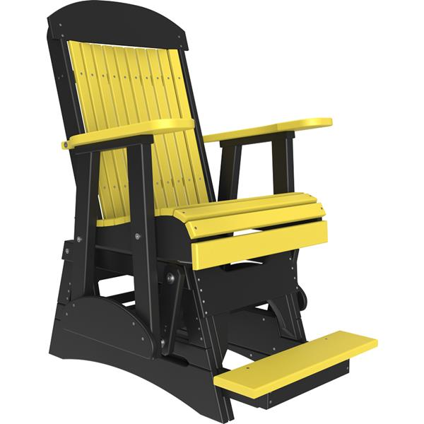 Single Classic Balcony Glider - Yellow & Black