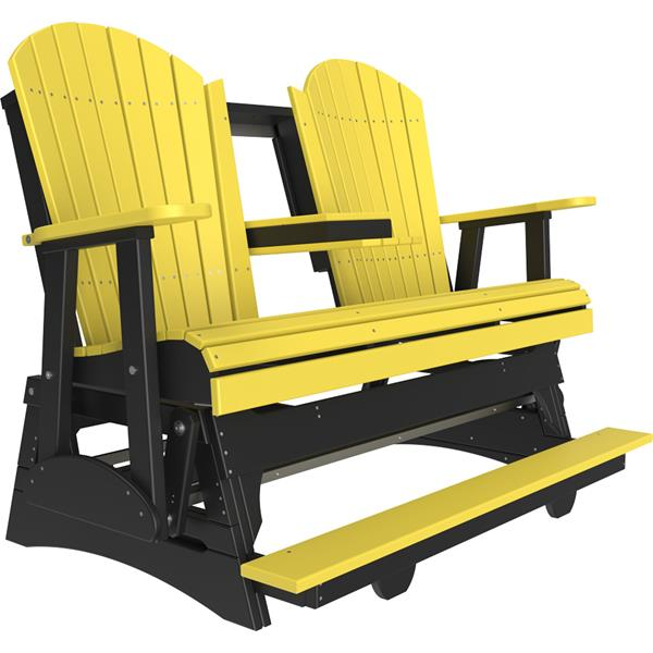 Triple Adirondack Balcony Glider - Yellow & Black