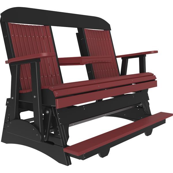 Triple Classic Balcony Glider - Cedar & Black