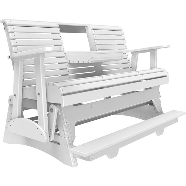 Triple Plain Balcony Glider - White